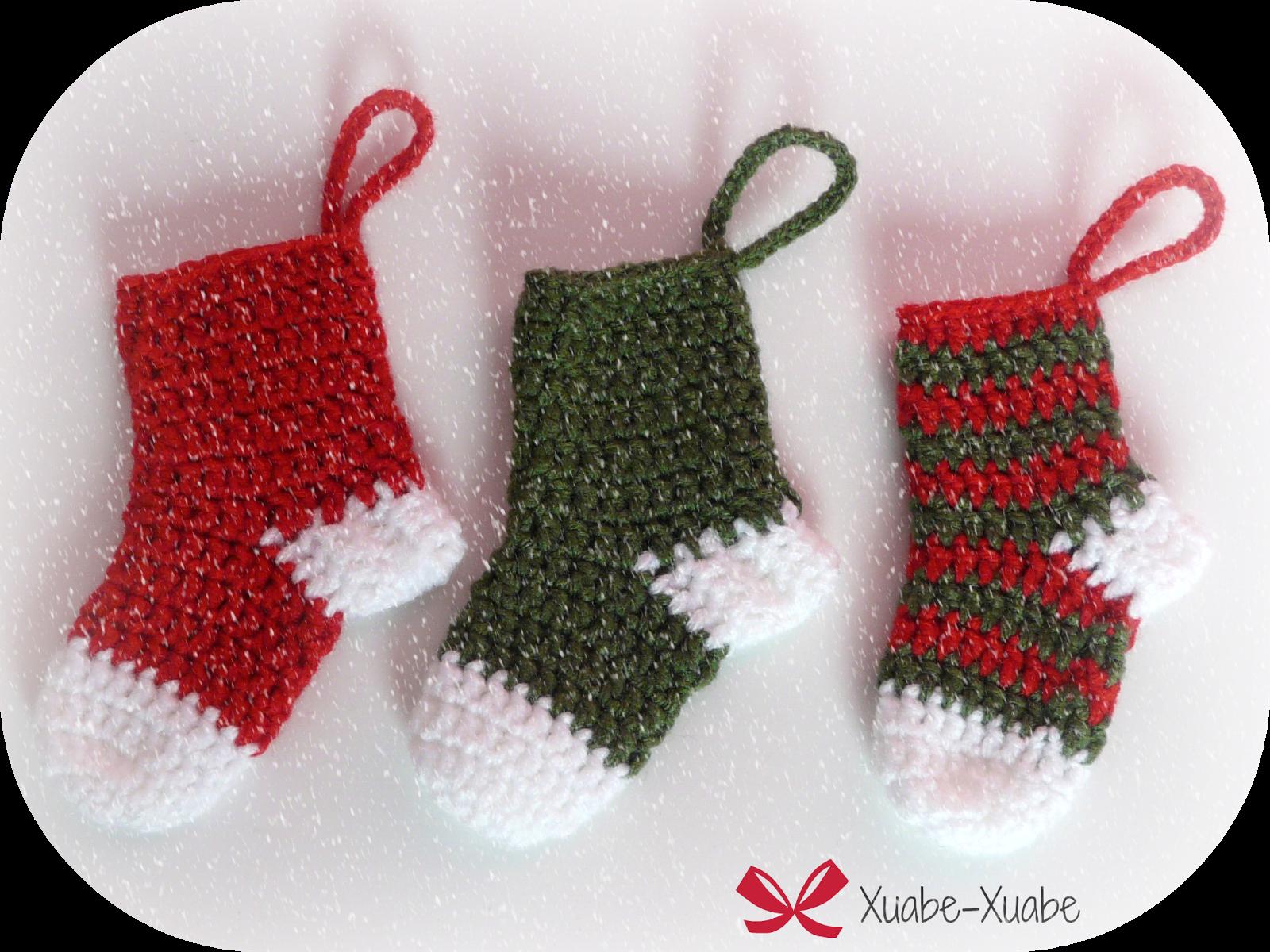 Xuabe-Xuabe: Patrón Calcetines Navideños A Crochet | cositas de ...