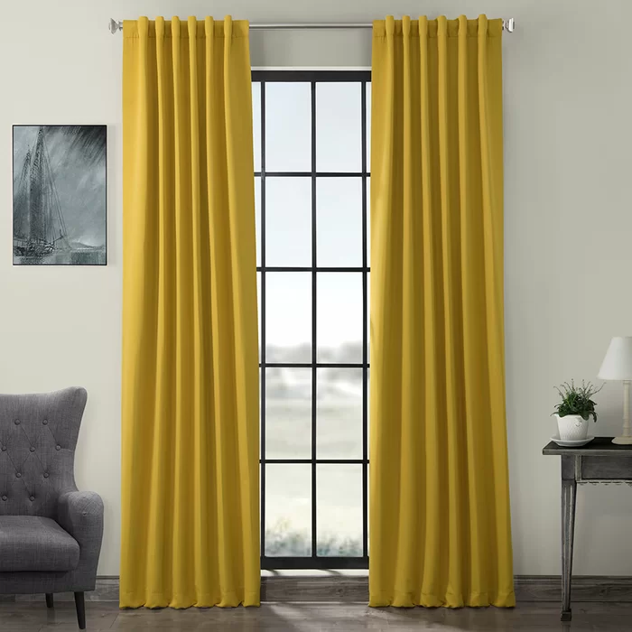 Birch Lane Heritage Cairo Solid Room Darkening Rod Pocket Panel Pair Reviews Wayfair Rod Pocket Curtains Panel Curtains Rod Pocket Curtain Panels