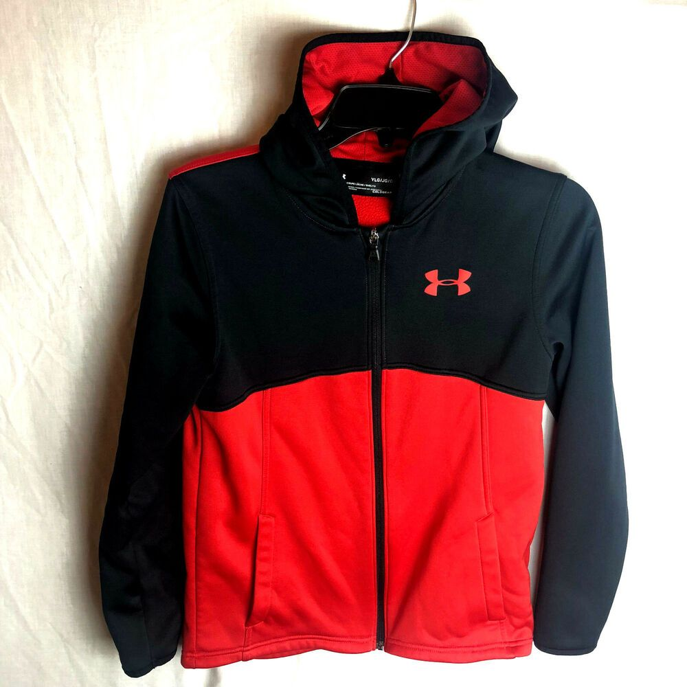 Under Armour Ultra Blue UA Storm 1//4 Zip ColdGear Boys/' Loose Hoodie Youth XL