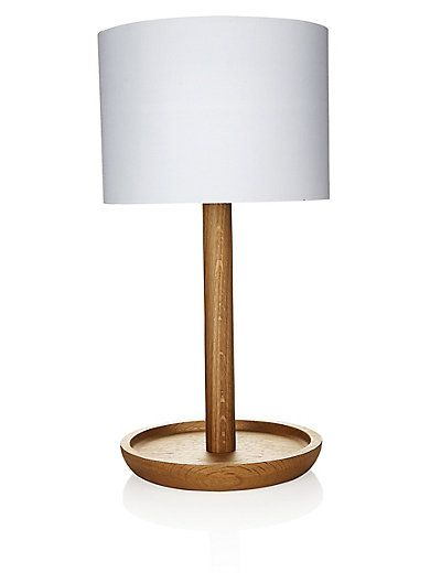 Conran wooden dish table lamp ms
