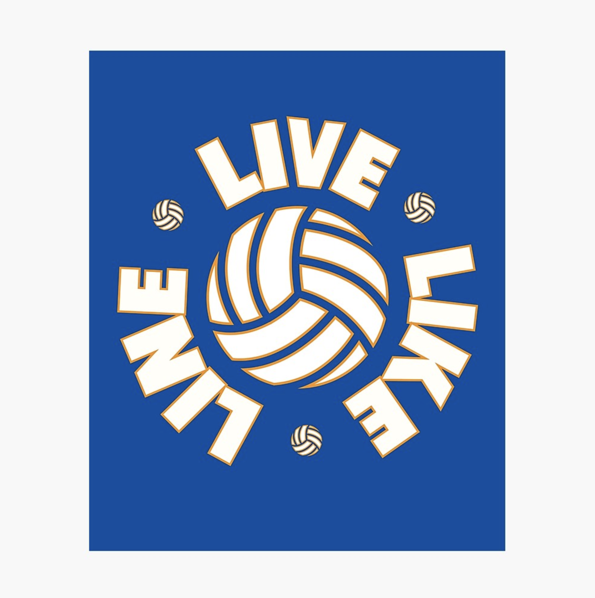 Live Like Line Volleyball Photographic Print By Corbrand Live Like Line Chicago Cubs Logo Volleyball