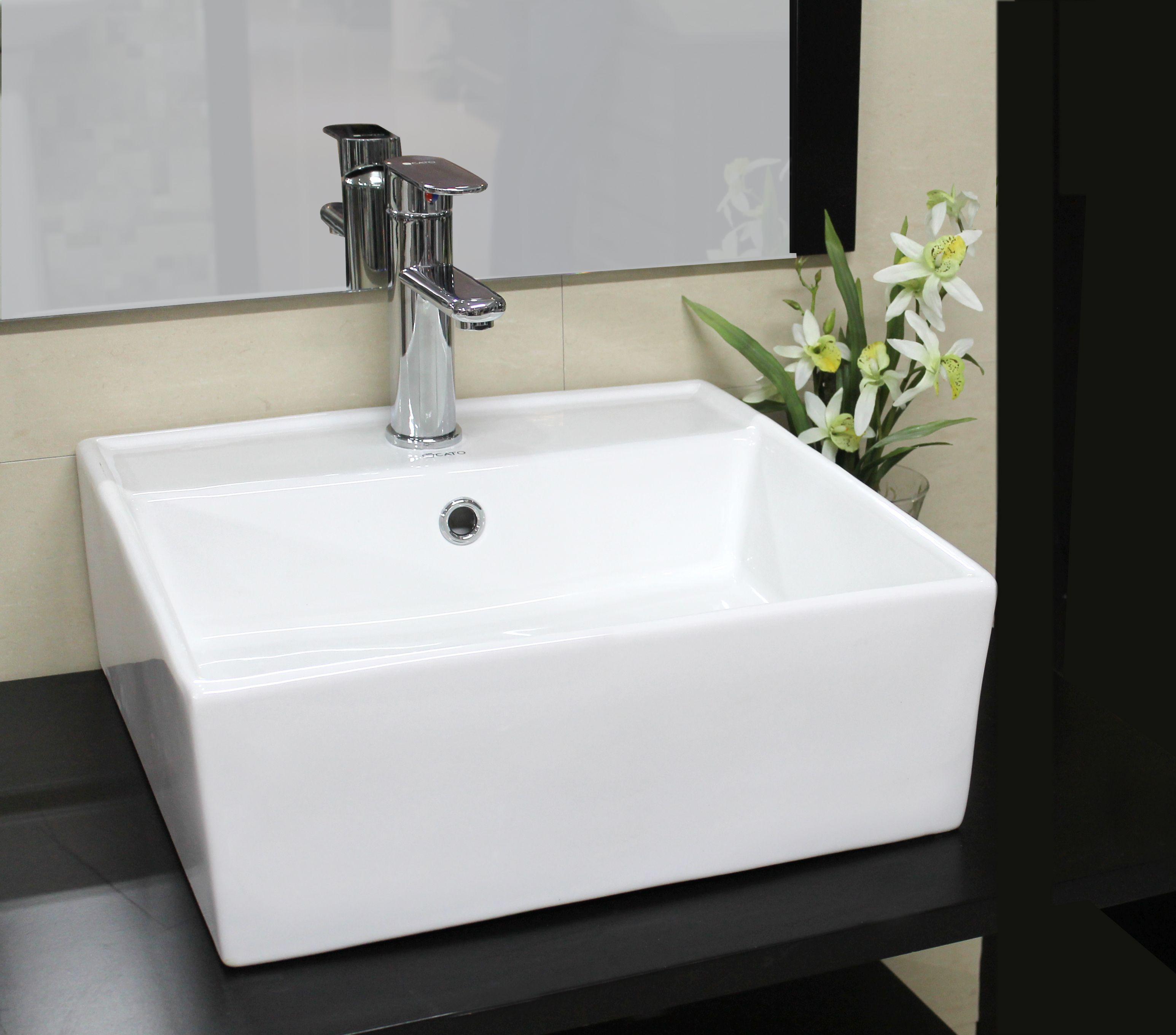 Lavabo minimalista de la l nea premium de cato cuadrato Sanitarios y accesorios para bano