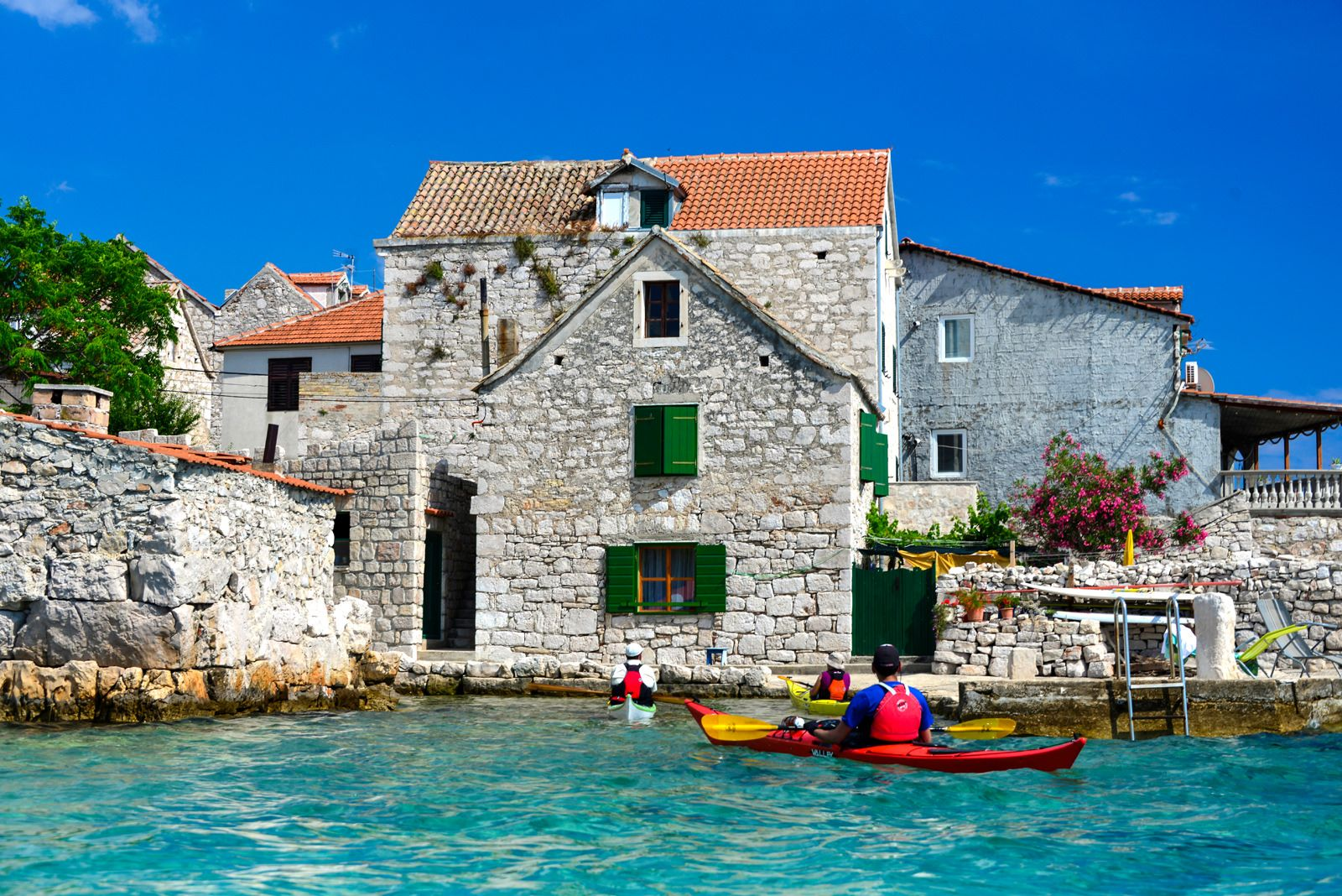 Croatia Kayaking Tours Of Remote Dalmatian Coast Islands Including The Kornati Archipelago Kayak Trips From Boutique Hotels Featuring Croatian Cuisine