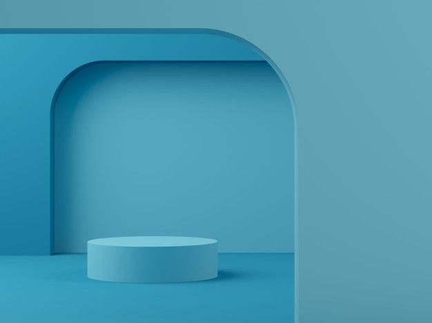 Abstract Scene Pastel Color With Geometry Shape Podium Background