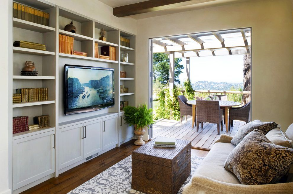 garage conversion ideas family room transitional with wood ...