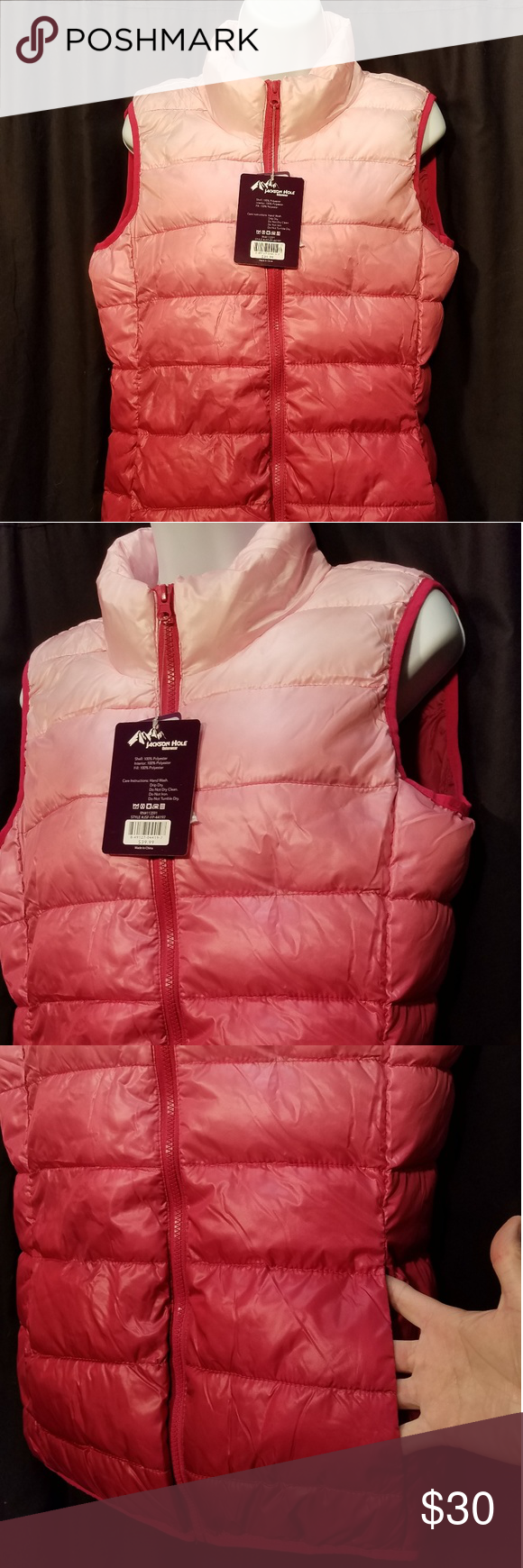 Jackson Hole Ombre Pink Puffer Vest Pink Ombre Puffer Vest Jackson Hole [ 1740 x 580 Pixel ]