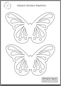 fiche cr ative n 14 stickers papillons instants papiers essayer pinterest stickers. Black Bedroom Furniture Sets. Home Design Ideas
