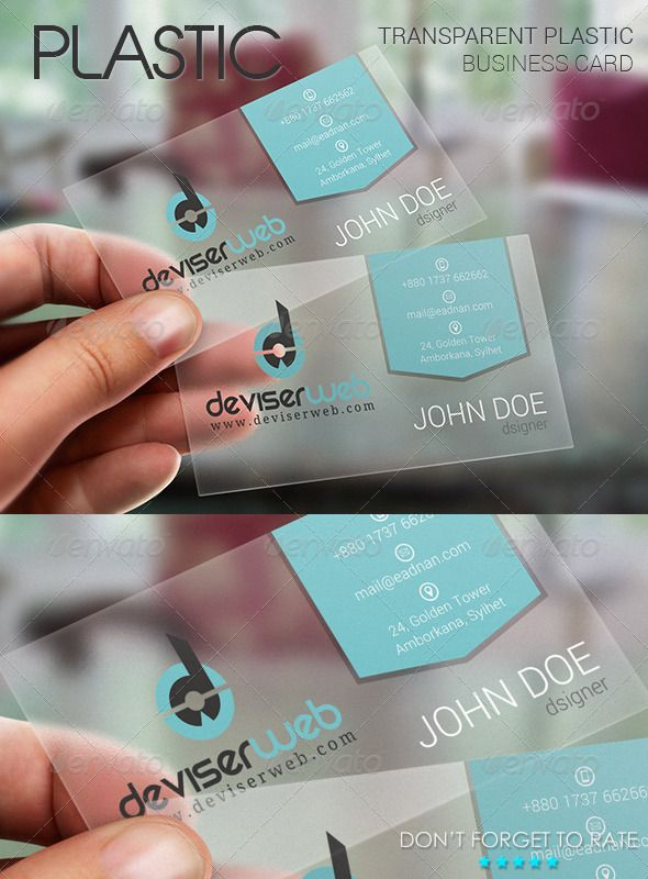 Transparent Plastic Business Card  GraphicRiver Transparent Plastic     Transparent Plastic Business Card  GraphicRiver Transparent Plastic  Business Card Template This is a Transparent FLAT style business card  template