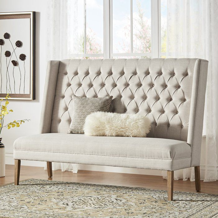 Groovy Kaitlin Solid Linen Tufted Upholstered Bedroom Bench In 2019 Bralicious Painted Fabric Chair Ideas Braliciousco