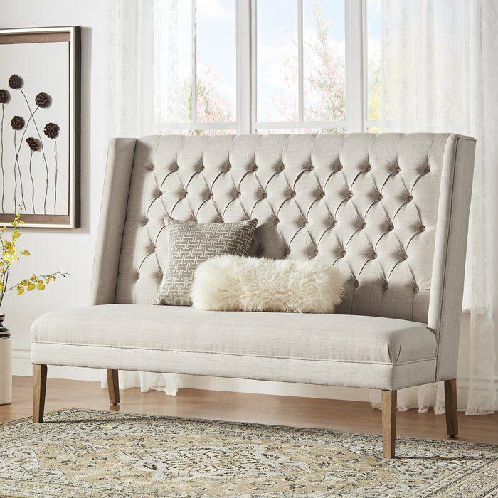 Astounding Kaitlin Solid Linen Tufted Upholstered Bedroom Bench In 2019 Customarchery Wood Chair Design Ideas Customarcherynet