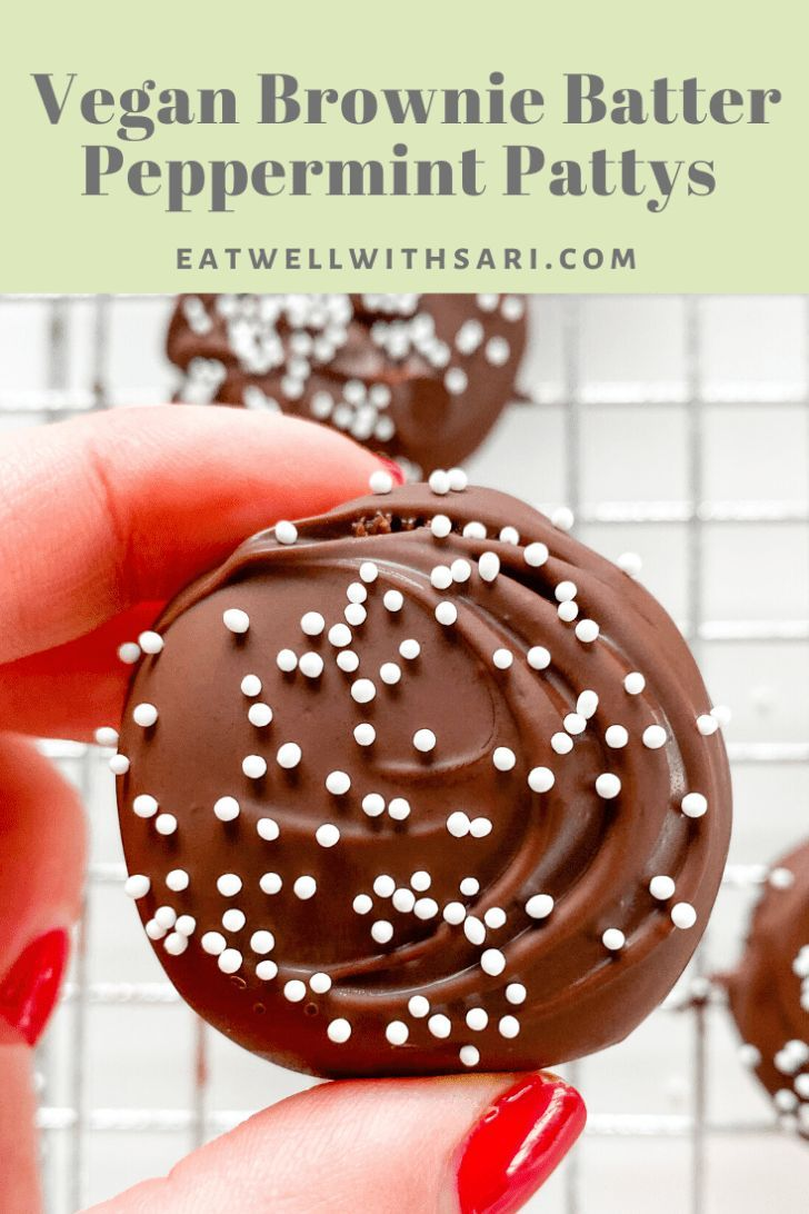 Vegan Brownie Batter Peppermint Patties