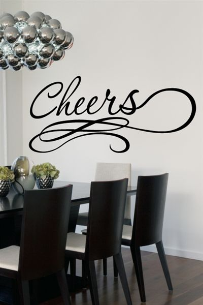 Cheers Wall Decals Walltat Com Art Without Boundaries Custom Wall Decor Wall Decor Quotes Wall Decals