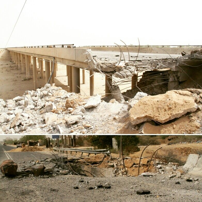 العدوان السعودي يستهدف الجسور والطرقات في منطقة حرض Air Wood Yemen