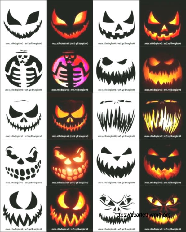 Free-Scary-Halloween-Pumpkin-Carving-Stencils,-Patterns-&-Ideas-2018-Jack-O-Lant... #pumkincarvingdesigns