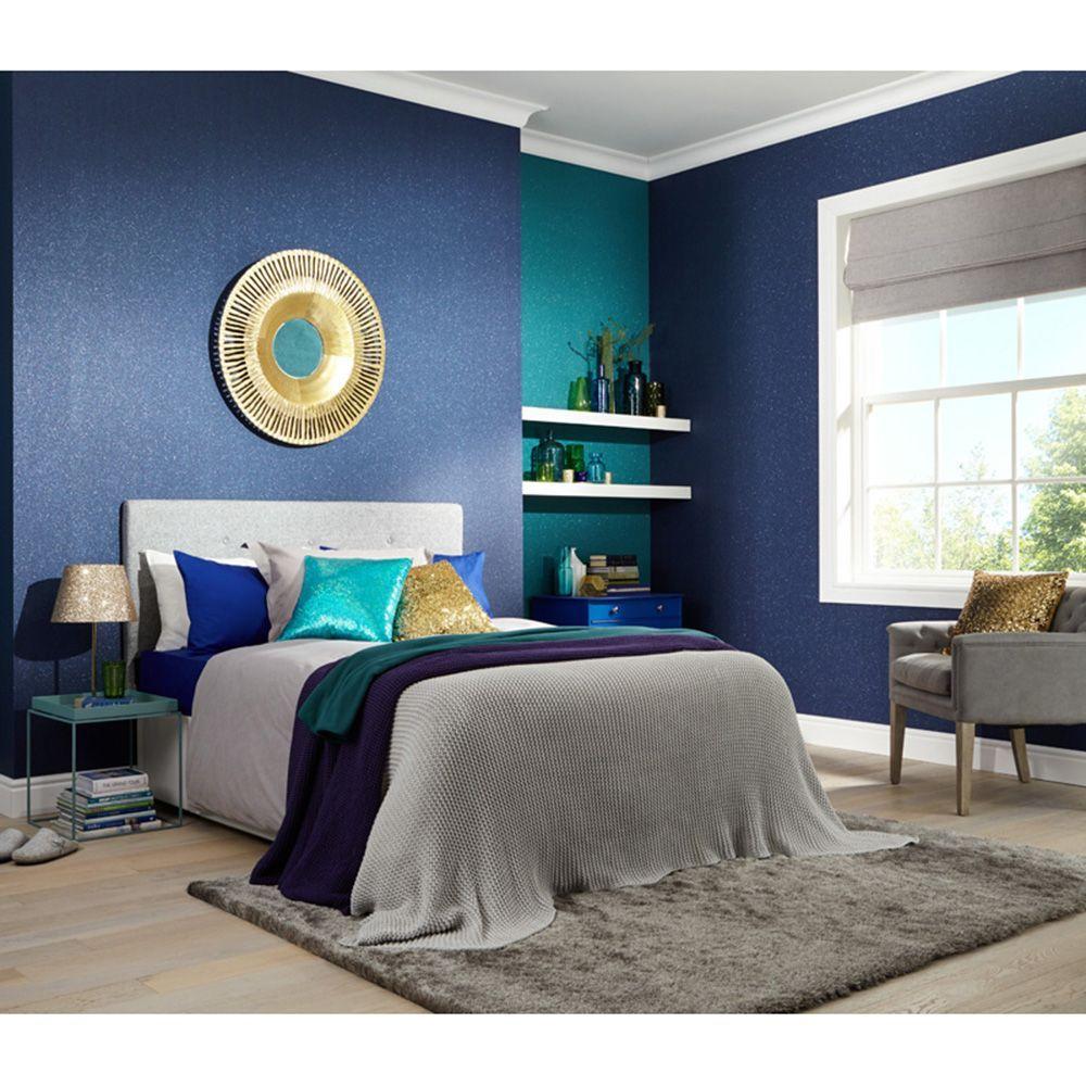 Glitterati Midnight Blue Glitter Wallpaper Arthouse 892200