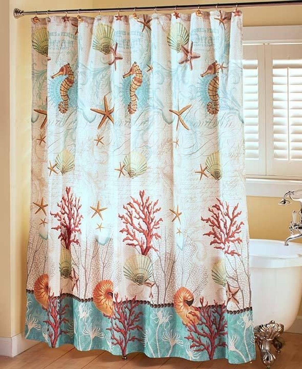 The Ocean Themed Bathroom Is Quite Awesome Nautical Bathroom Decor Beach Bathroom Decor Beach Theme Bathroom