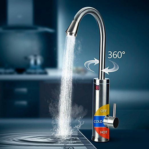 mr.house 360 ° rotation 220v robinet d'eau chaude électrique ... - Robinet Eau Bouillante Instantanee