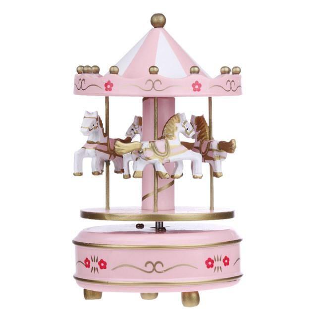 Carousel Music Box Child Baby Wooden Game Toy Kids Children