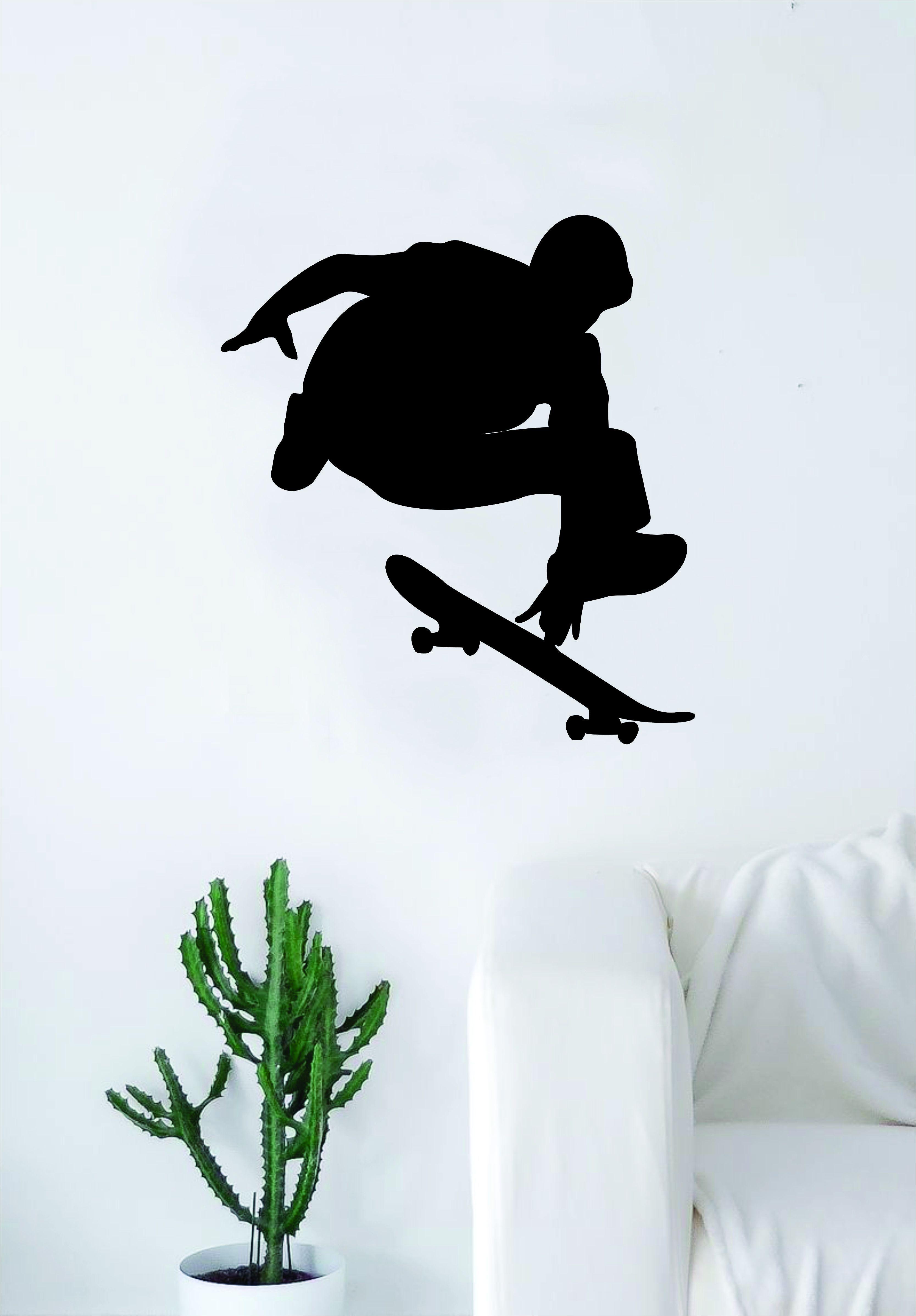 Skater v1 silhouette wall decal sticker bedroom living room