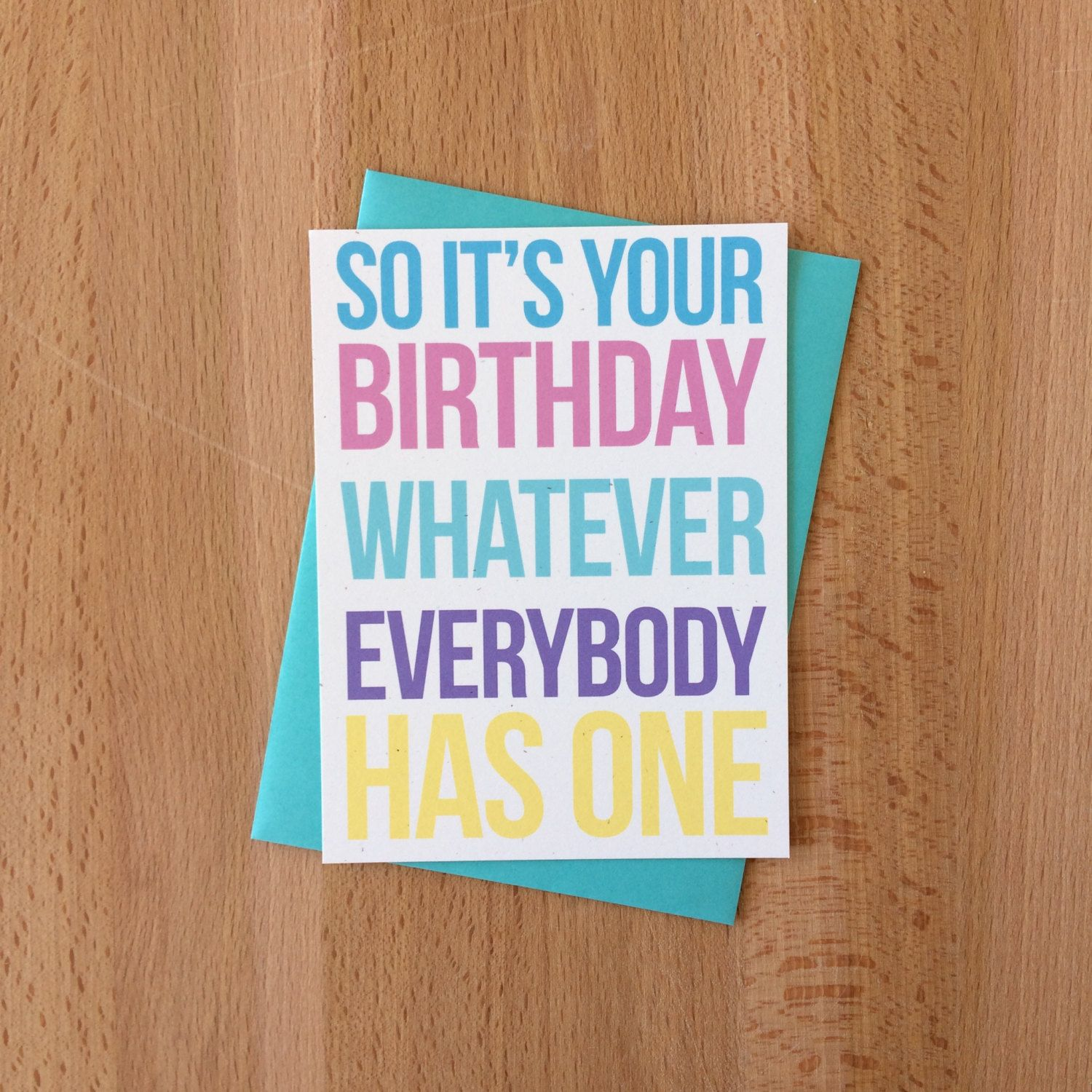 Snarky Happy Birthday Card