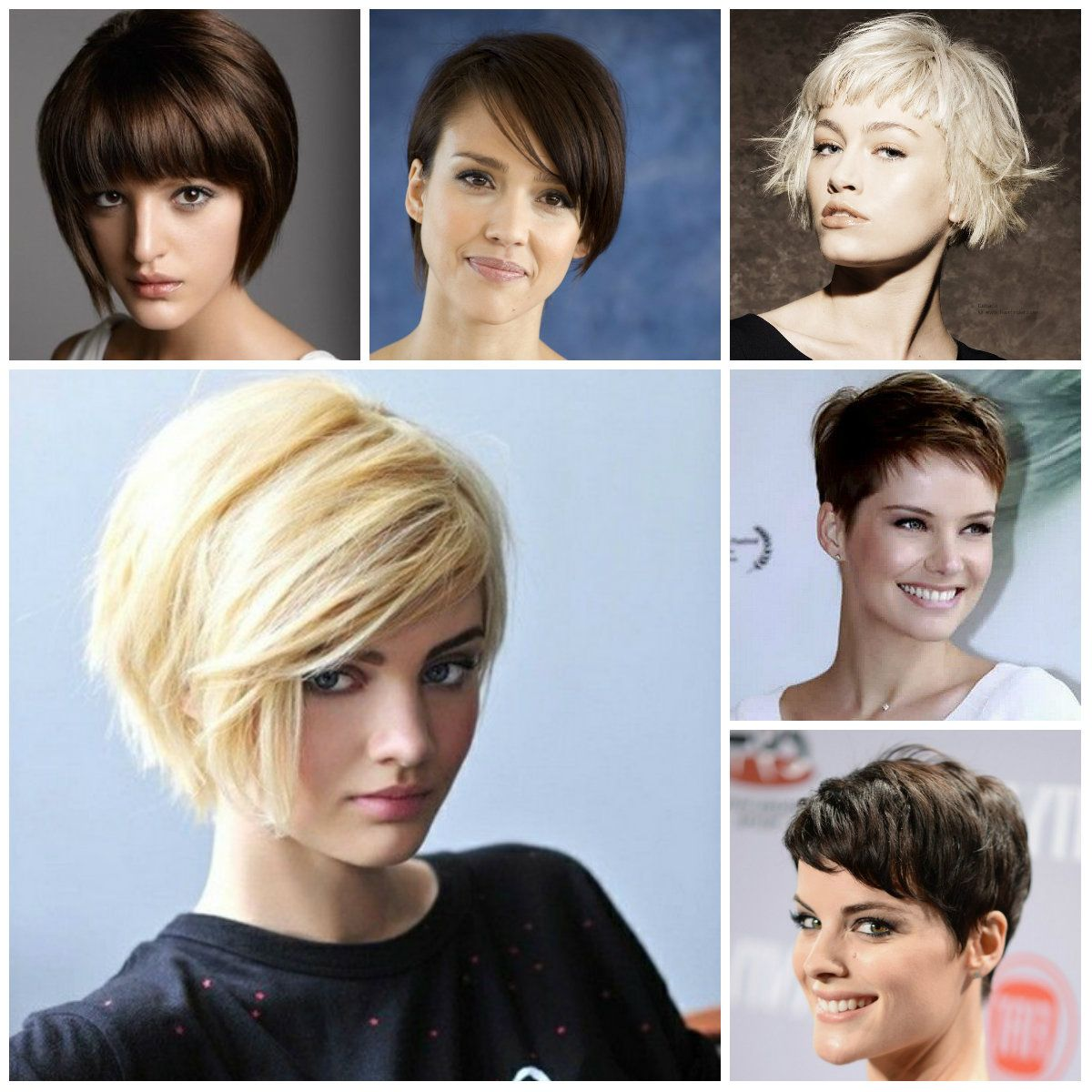 2016 Trendy Short Haircuts With Bangs Hairstyles And Hair Colors For