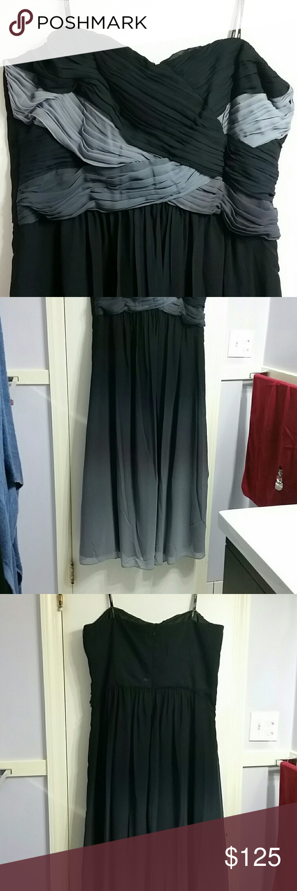 Floor length ombre strapless dress strapless dress city chic and