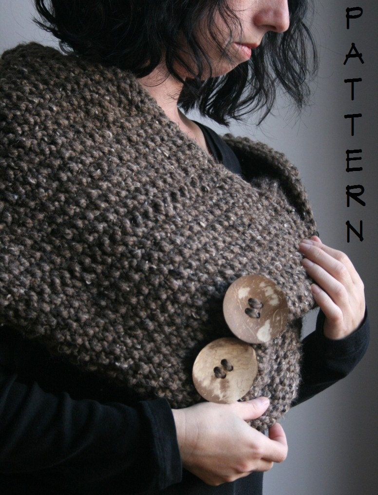A KNITTING PATTERN--The Great North Wrap...(Child and Adult Size) PDF. $4.00, via Etsy.
