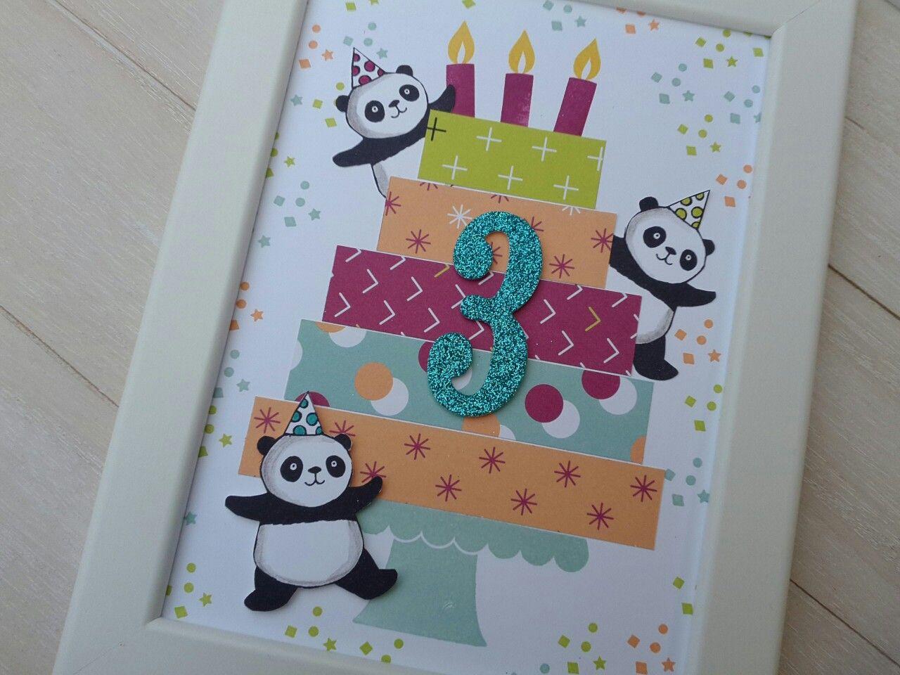 Perfekte Party, Party Pandas, SAB 2018, Karte zum Geburtstag, Basteln für Kinder, SU 2018 #babypandas