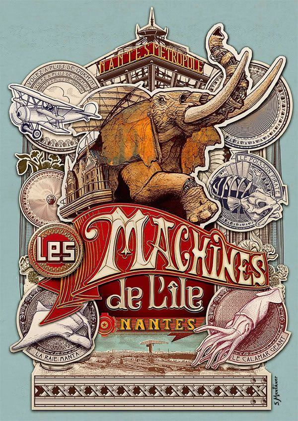 Les Machines De L Ile De Nantes Francophilia Gazette Vintage Typography Vintage Posters Poster Art