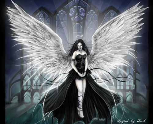 beautiful angels with swords fan graphic art - Google Search