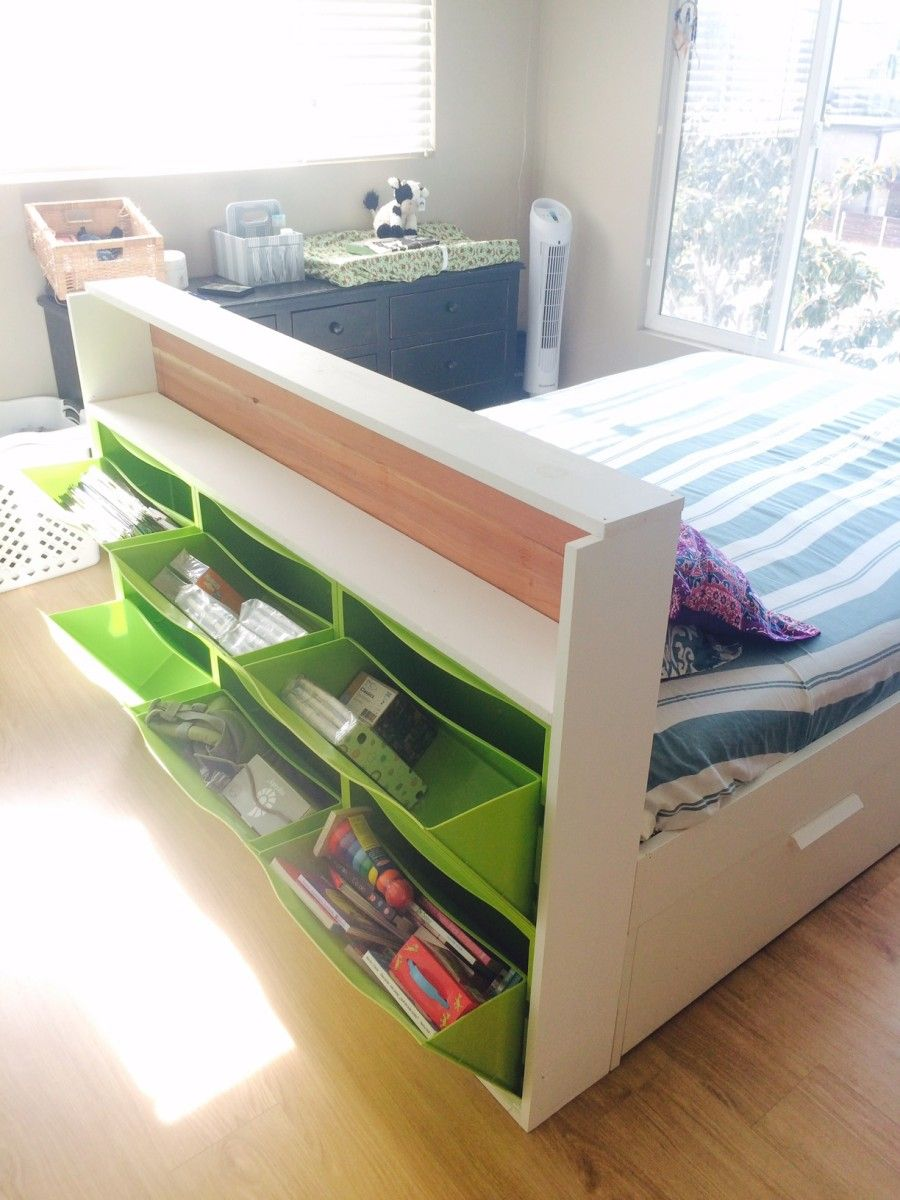 Trones storage headboard r ume pinterest m bel for Schmales kinderzimmer