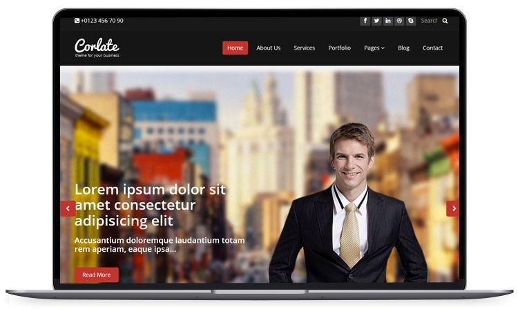Corlate Free Responsive Business Html Template