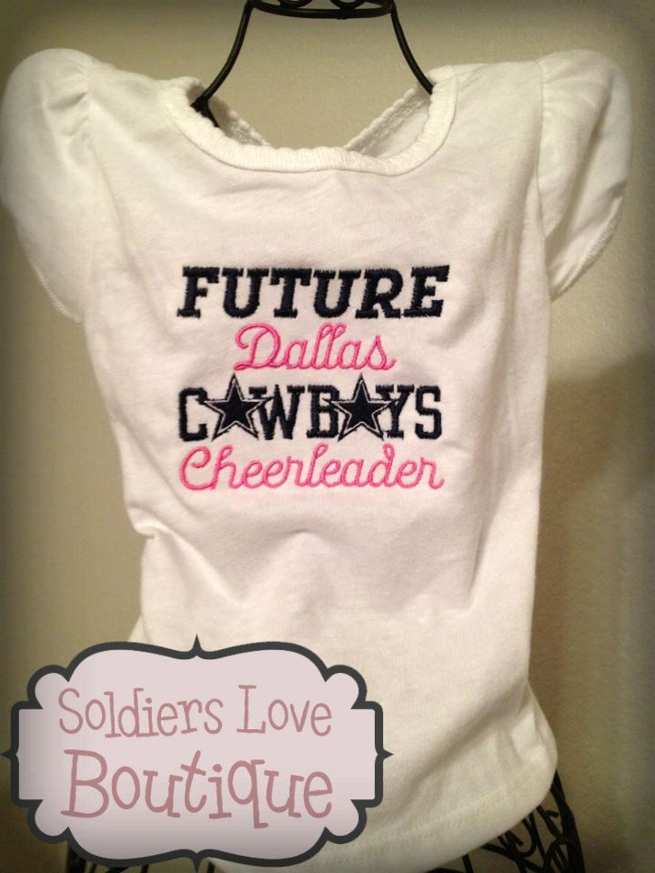 Future Dallas Cowboys Cheerleader T-Shirt Onesie.  18.00 6d5ea845d