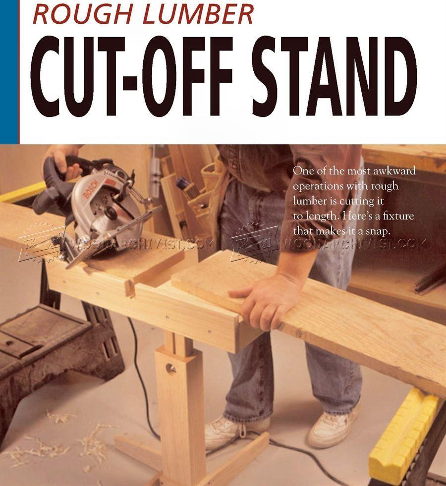 #634 Circular Saw Cut Off Stand Plan - Circular Saw Tips, Jigs and Fixtures