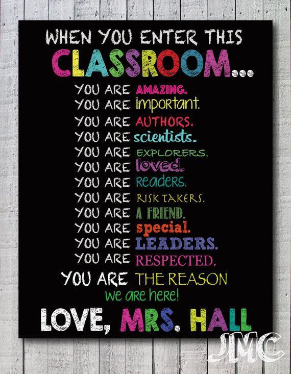 Classroom Decoration Ideas Quotes : Classroom decor gift for teacher personalized first day