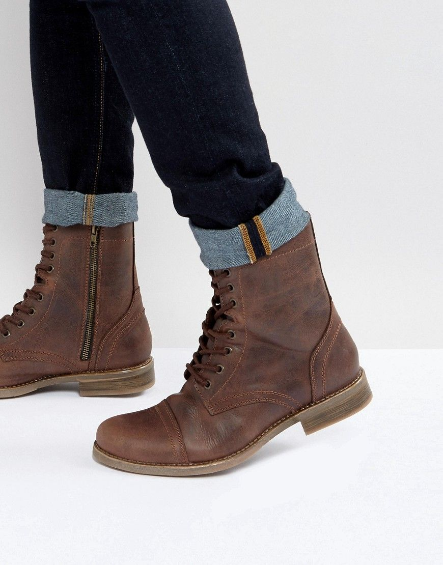 1d7017ee8c1 Steve Madden Troopah Boots in Brown - Brown