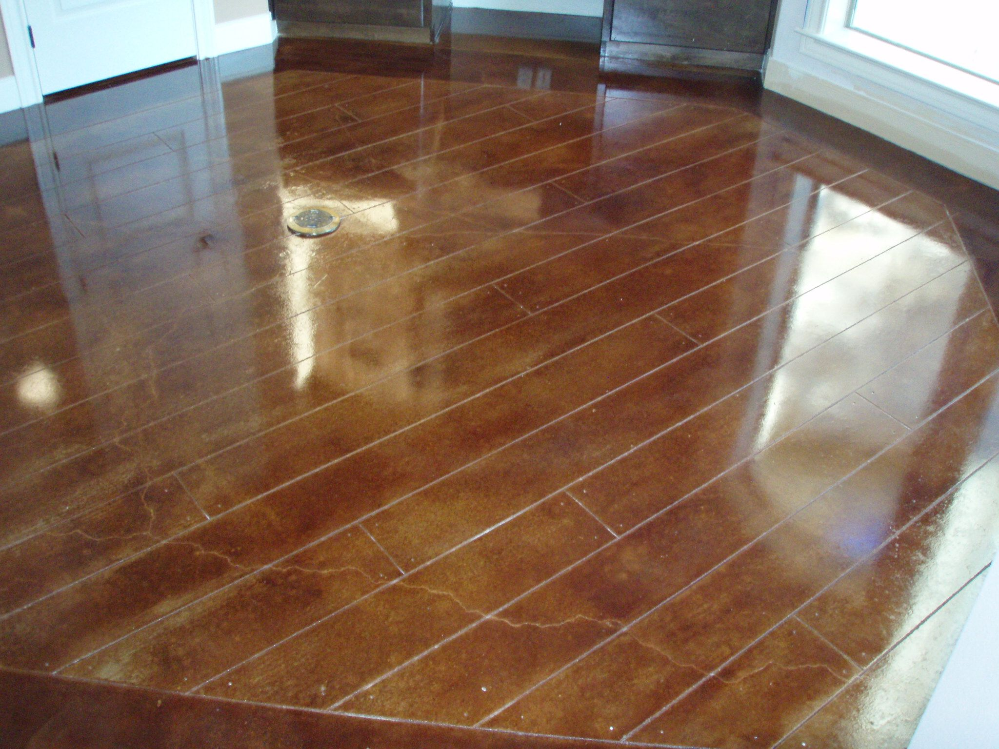 Paint Concrete to Look Like Wood