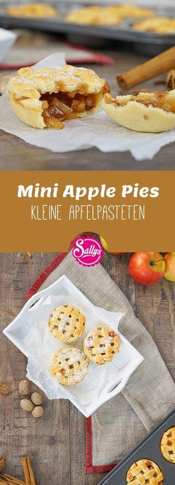 Knusprige kleine Apple-Pies, die man von der Hand essen kann. Ideal auch zum Mitnehmen oder für Partys! Fingerfood! #apfelcupcakes