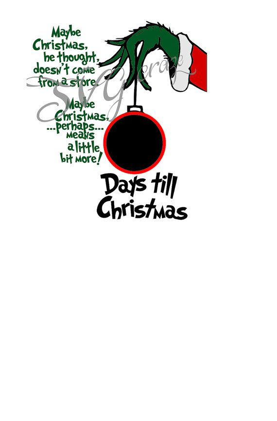 Days Until Christmas.Pin By Cindy Ford On Christmas Ornaments Christmas Svg