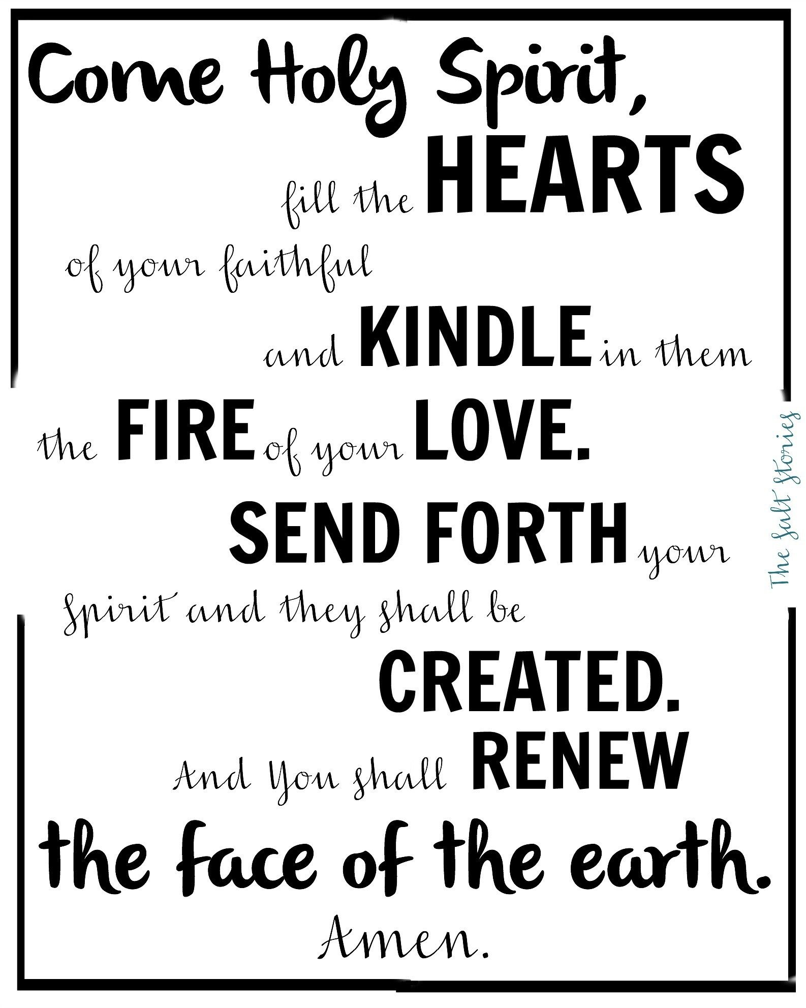 photo relating to Come Holy Spirit Prayer Printable called Appear Holy Spirit.. In just Remembrance @The Salt Reports