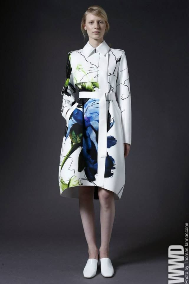 """Reed Krakoff Resort 2014 with abstract expressionist Robert Motherwell's """"open"""" series print"""