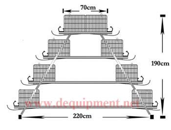 4 Tiers of 160 birds layer cage-Hebei Dingtuo Machinery