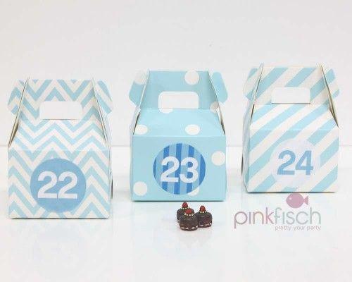 Adventskalender Schachtel Set, 1 Farbe 3 Designs, div. Farben ...