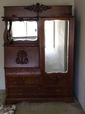 For Sale Antique Desk And Armoire With A Murphy Bed On