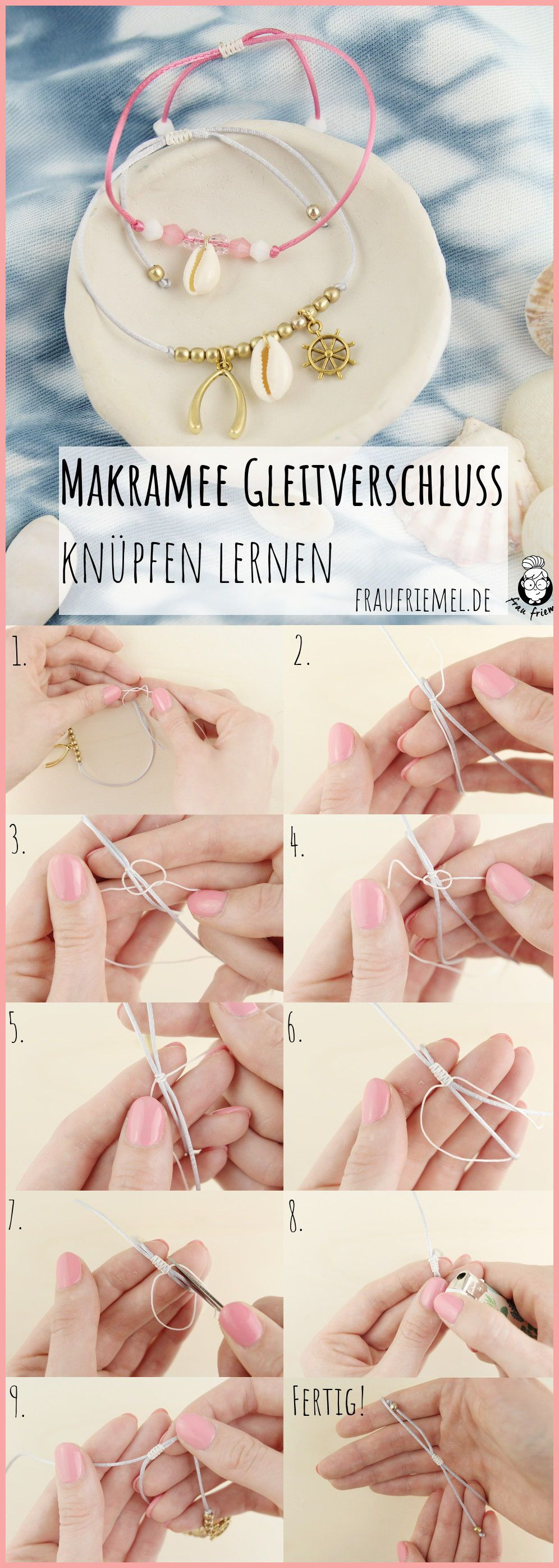 Photo of Make your own anklet with macrame clasp | Mrs. Friemel