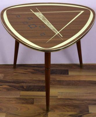 table dappoint tripode formica bois motifs annes 50