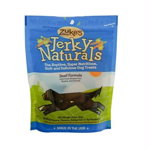 Zukes Jerky Naturals For Dogs Beef - 6 oz