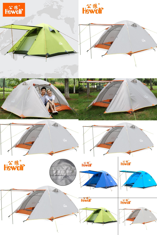 [Visit to Buy] Hewolf Double Layer 3 4 Person Tents Rainproof Waterproof Outdoor C&ing  sc 1 st  Pinterest & Visit to Buy] Hewolf Double Layer 3 4 Person Tents Rainproof ...