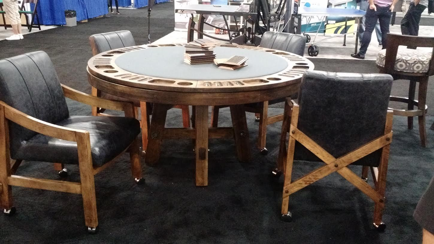 California House Loft Game Table Pictured With Matching Chairs