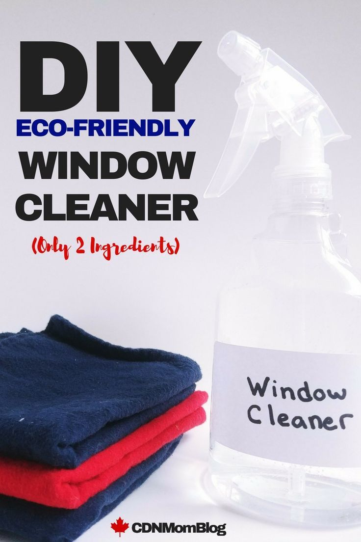 Homemade window cleaner with only 2 ingredients canadian